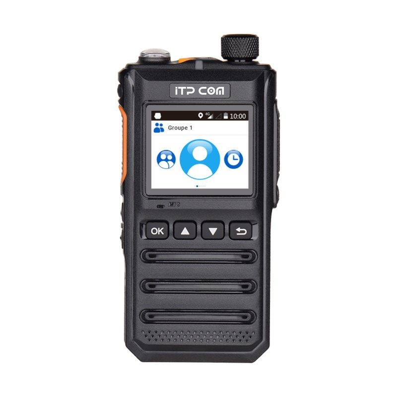 Radio bidirectionnelle PoC IC640A ITP COM, Android, GPS, SOS, double SIM, WiFi et Bluetooth